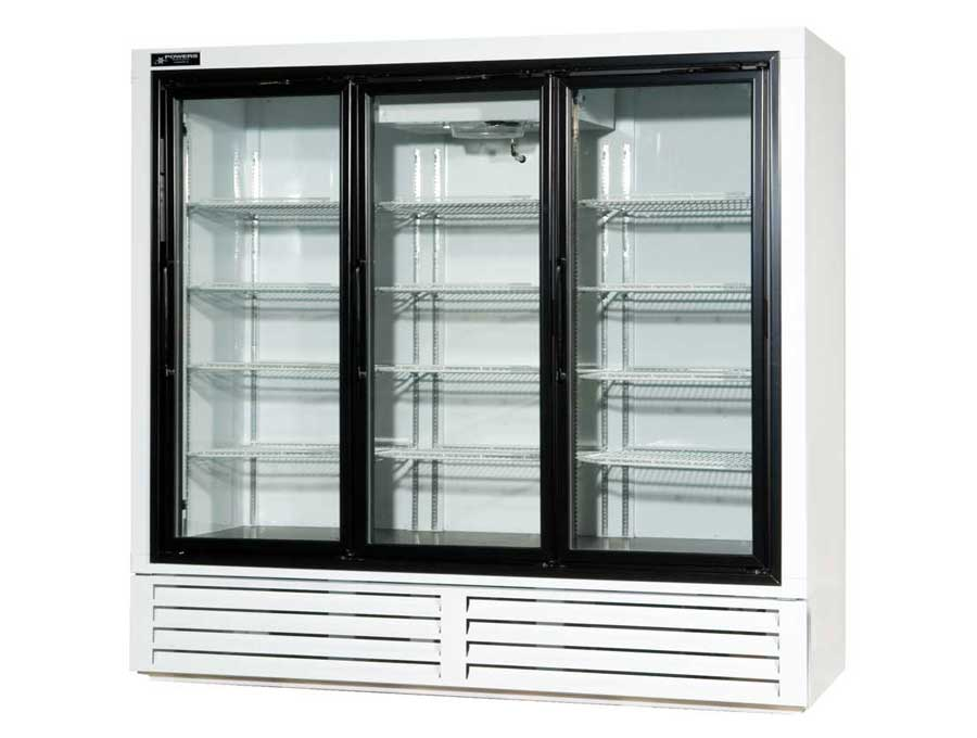 Swinging Glass Door Beverage Refrigerator Model BS77SD