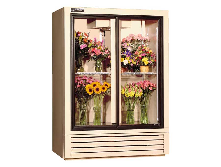 Gliding door floral refrigerators coolers powers equipment co gliding glass door floral refrigerator model fs52gd sciox Image collections